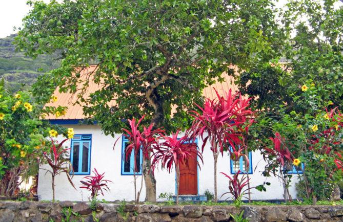 Maison du cousin du roi à Rikitea, Gambier © Tahiti Heritage