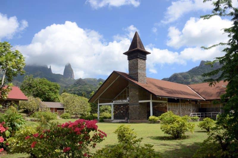 Eglise Saint-Etienne de Hakahau, Ua Pou, Marquises. Photo septavivre.be