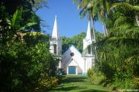 Eglise Notre Dame de Paix d'Akamanu , Gambier © Tahiti Heritage