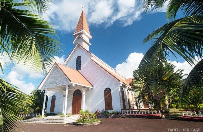 Eglise du Sacré-Coeur d'Arue, Tahiti © Tahiti Heritage 2015