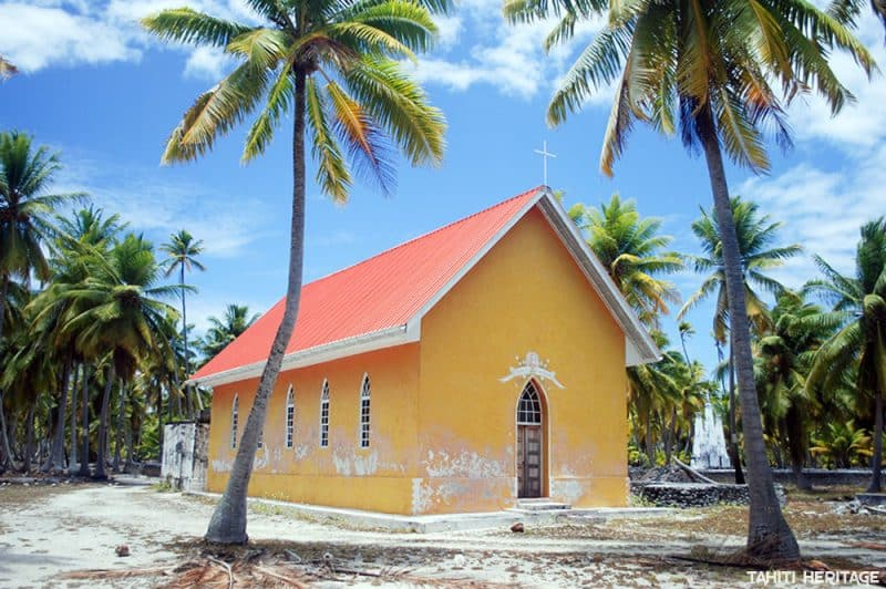 Chapelle Saint-Nicolas de l'ancien village de Fakahina © Tahiti Heritage / Olivier Babin