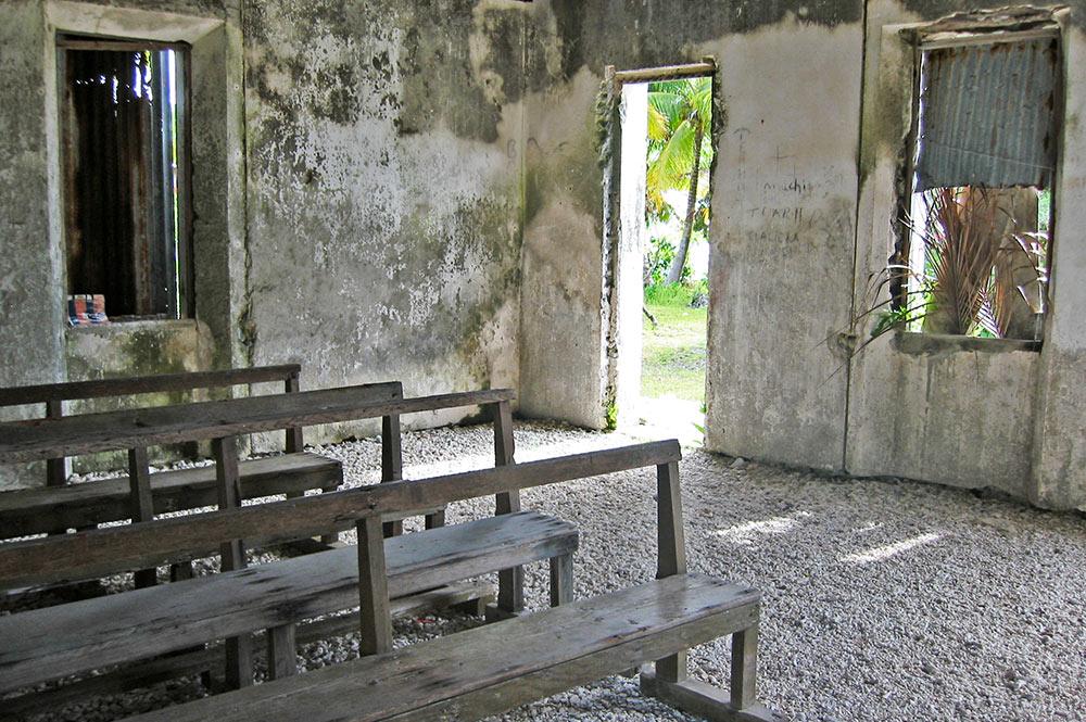 L'église de Tetamanu avant sa restauration