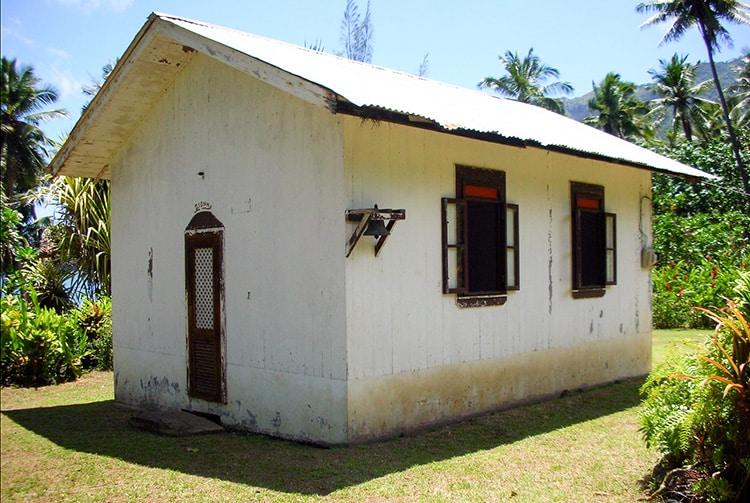 Temple de Puama, à Hiva Oa