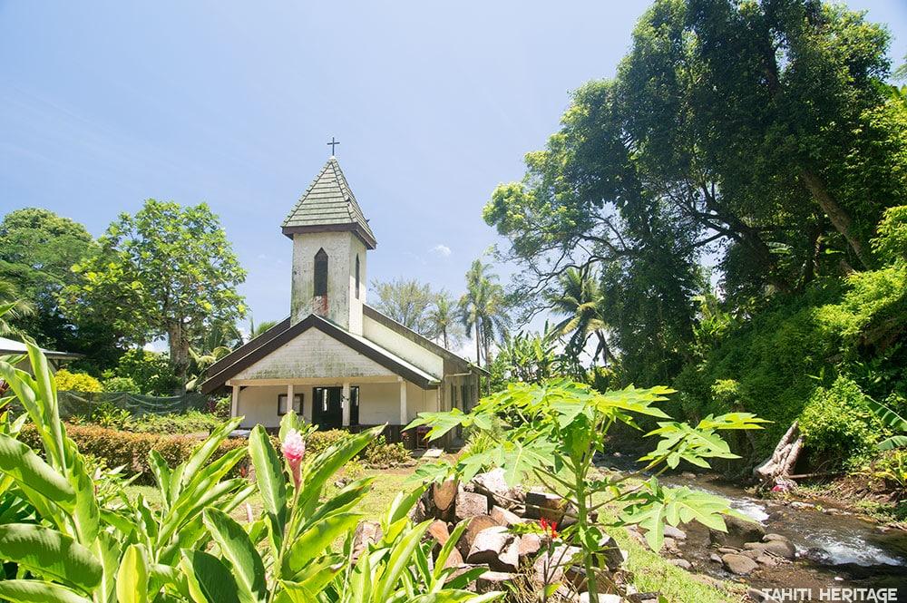 Eglise Saint-Lazare d'Orofara, à Mahina, Tahiti © 2015 Tahiti Heritage