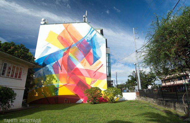 Street art, avenue du prince Hinoi à Papeete. Photo Tahiti Heritage