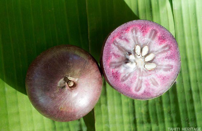 Caïmite, la pomme étoile tahitienne © Tahiti Heritage
