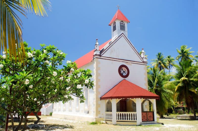 Eglise Saint-François Xavier de Takume © Tahiti Heritage