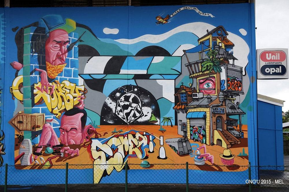 Street Art, chez Aming Papeete. Onou 2017