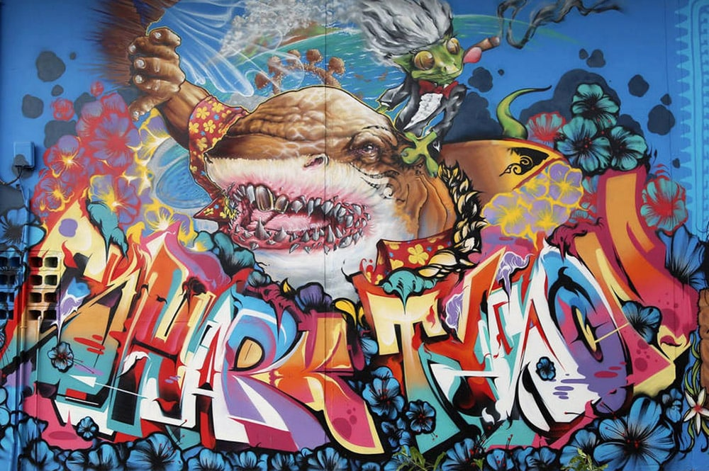 Street Art, Requin chez Aming Papeete. Onou 2016