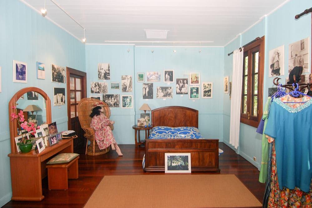 La chambre de la maison Norman Hall
