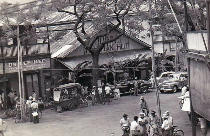 Le Quinn's Tahitian Hut, dancing à Papeete vers 1950. Photo Mackenzie