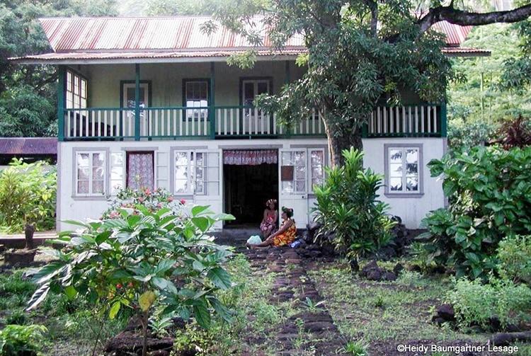 Maison Grelet, à Omoa, Fatu Hiva. Photo Heidy Baumgartner Lesage