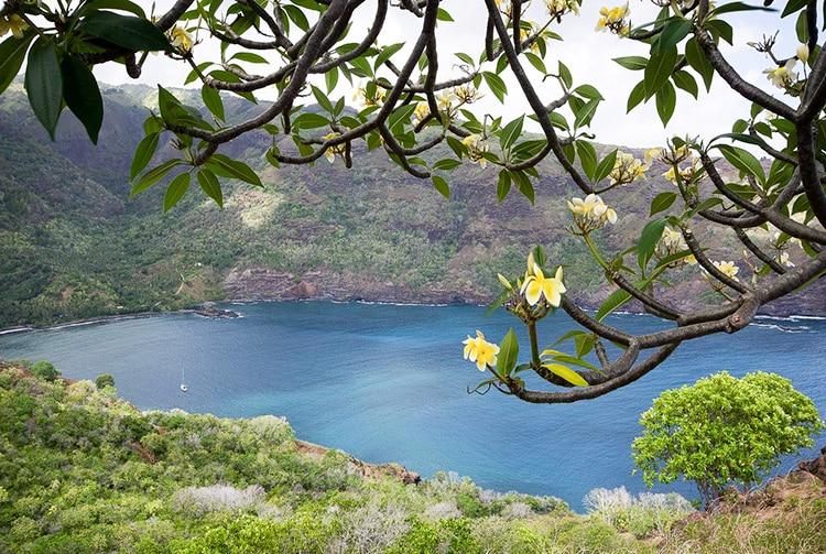 Baie de Hanaiapa à Hiva Oa. Photo Yan Peirsegaele