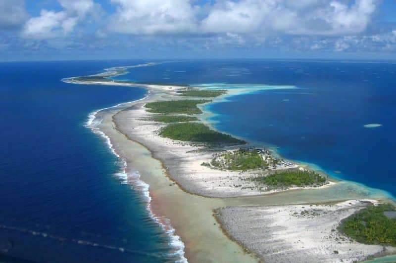 Atoll de Raroia, Tuamotu. Photo Mermoz