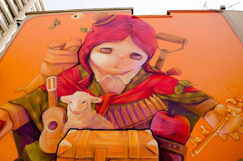 Fresque murale de Inti