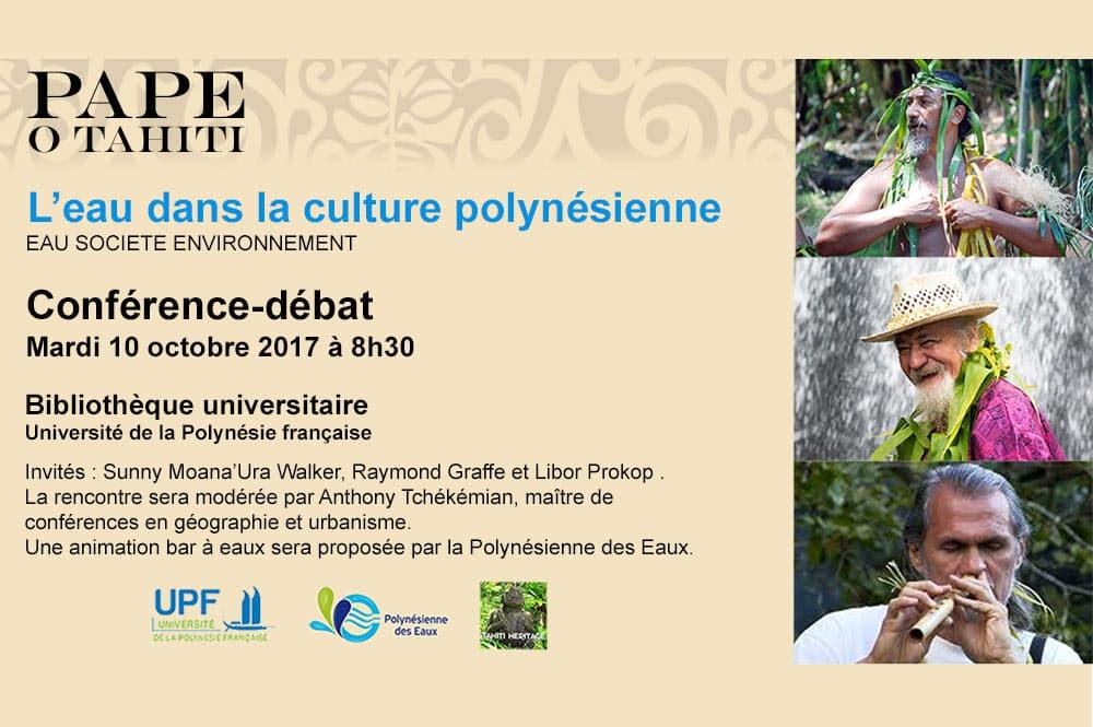 Conférence sur l'eau à l'Université de la Polynésie française