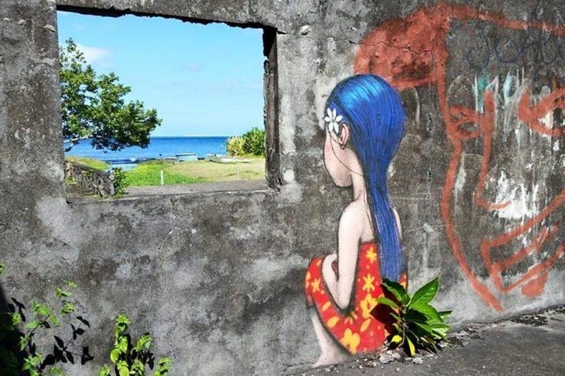 Fenêtre sur lagon à mataiea par Seth. Photo Chantal Alexandre Tahiti Iti