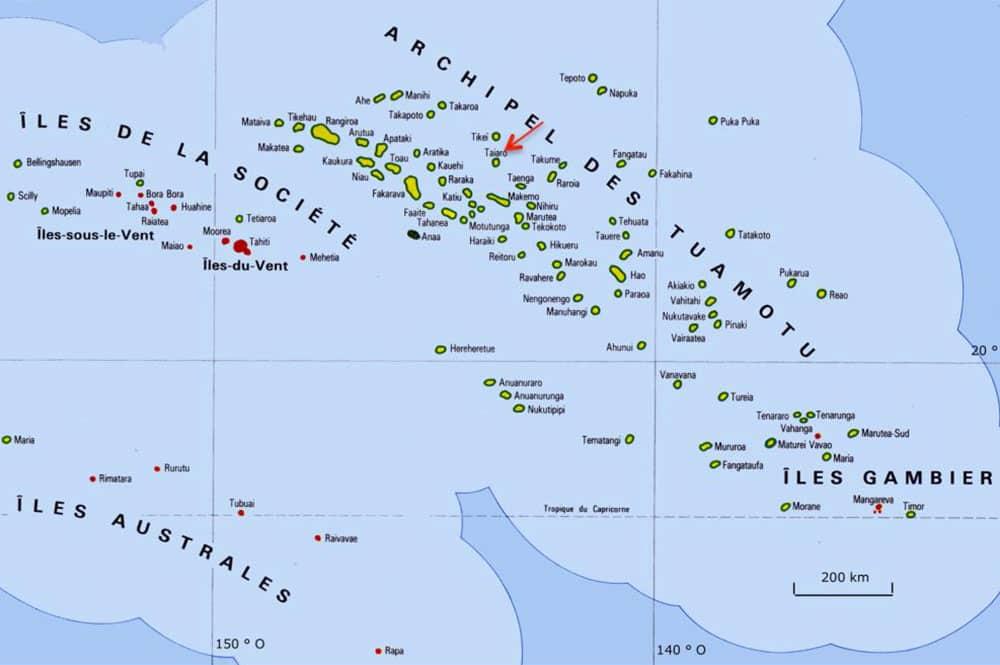 Atoll de Taiaro aux Tuamotu
