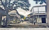La rue conduisant au marché de Papeete , vers 1910. Photo Lucien Gauthier.