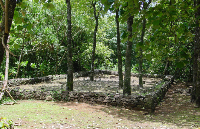 Marae Tetiiroa du circuit des ancêtres, d'Opunohu Moorea