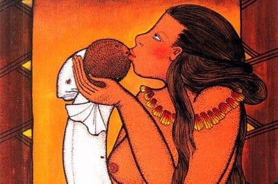 Légende de Hina et du cocotier © Illustration de Bobby Holcomb. Reproduction interdite sans autorisation
