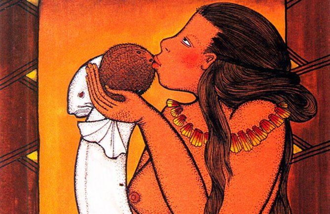 Hina et la légende du cocotier © Illustration de Bobby Holcomb. Reproduction interdite sans autorisation