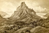Le mont Rotui à Moorea, par Constance Cumming 1882.