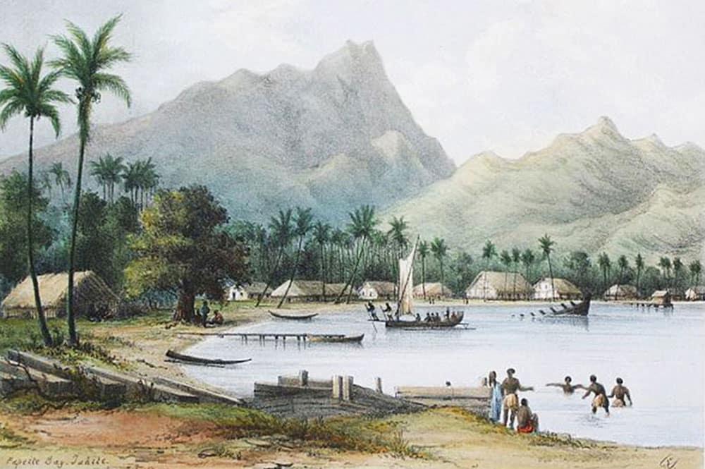 La baie de Papeete en 1848, Shipley Conway,