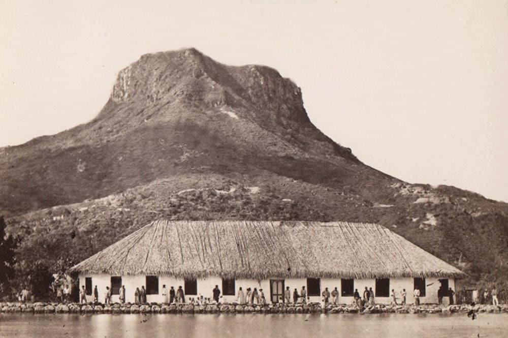 Ancien fare potee de Huahine