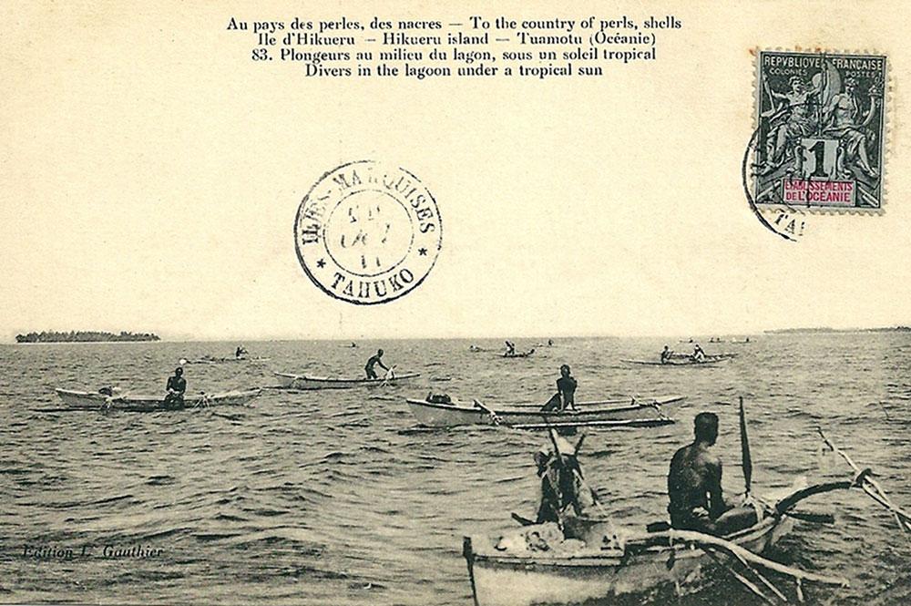 Plongeurs à Hikueru. 1912. Photo Lucien Gauthier