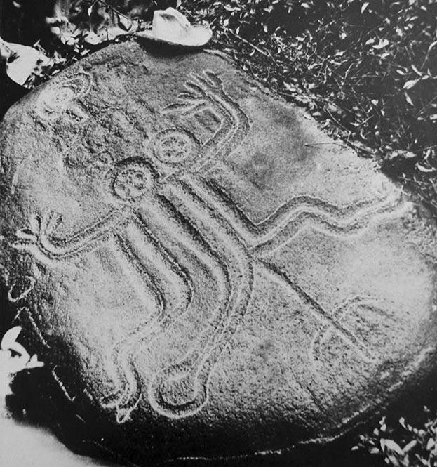 Pétroglyphe des jumeaux de Tipaerui (Papeete)