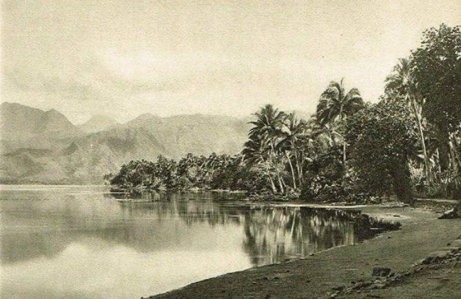 Toahutu, dans la baie de Taravao - Tahiti