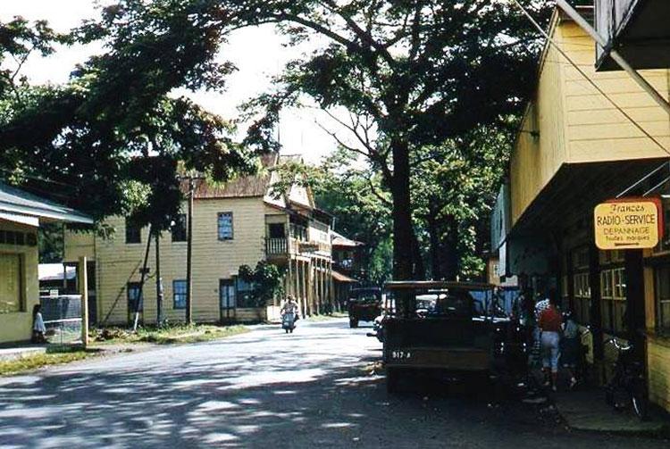 La rue de Rivoli à Papeete en 1955