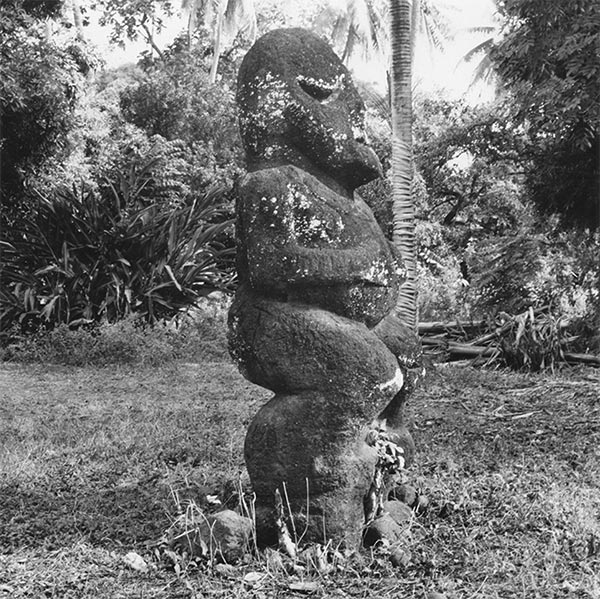 Tiki de Raivavae au musée de Mamao, Papeete en 1951. Photo Philippe Mollet