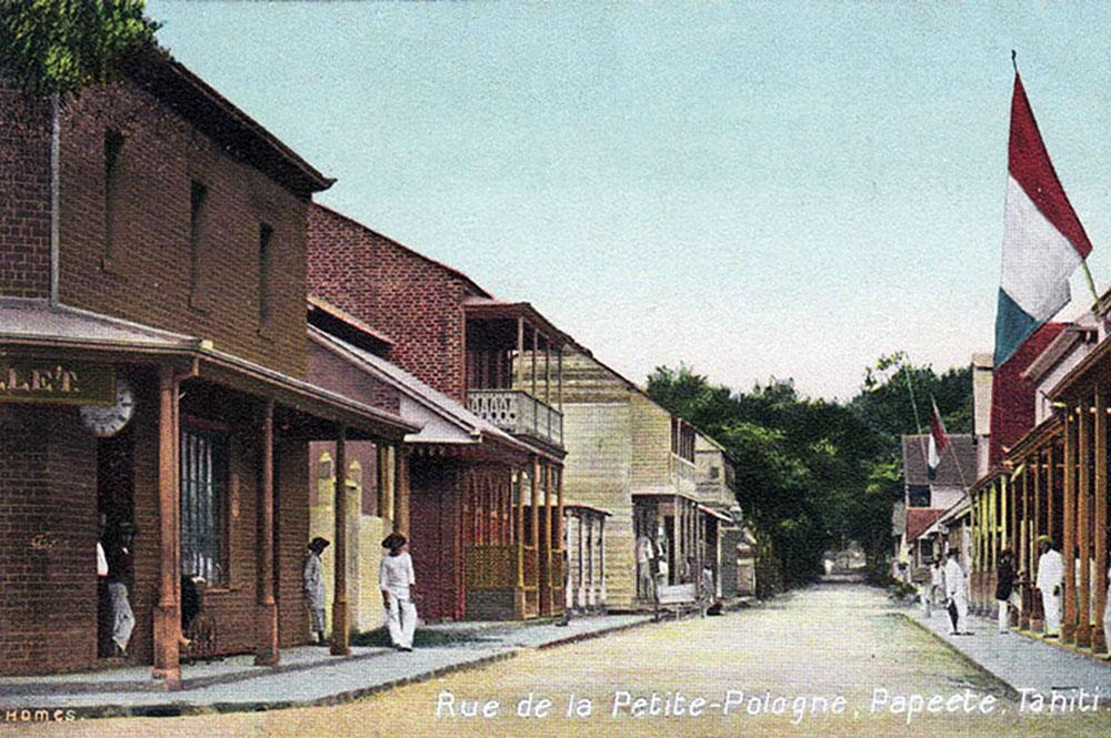 La rue de la Petite Pologne vers 1908. Photo Françis Homes