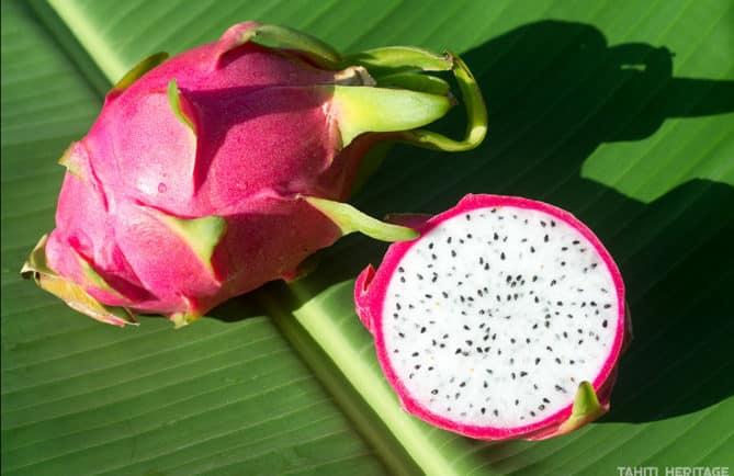 Pitaya, le fruit du dragon © Tahiti Heritage