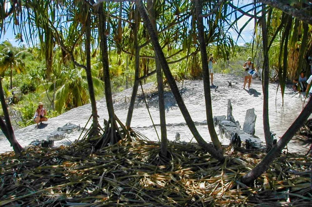 Le marae Maherehonae de Rangiroa