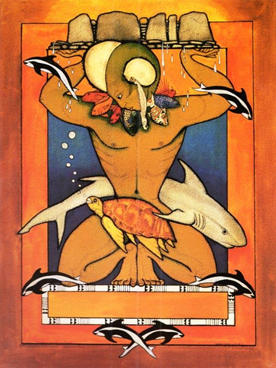 Ruahatu, dieu polynésien de l'océan par Bobby