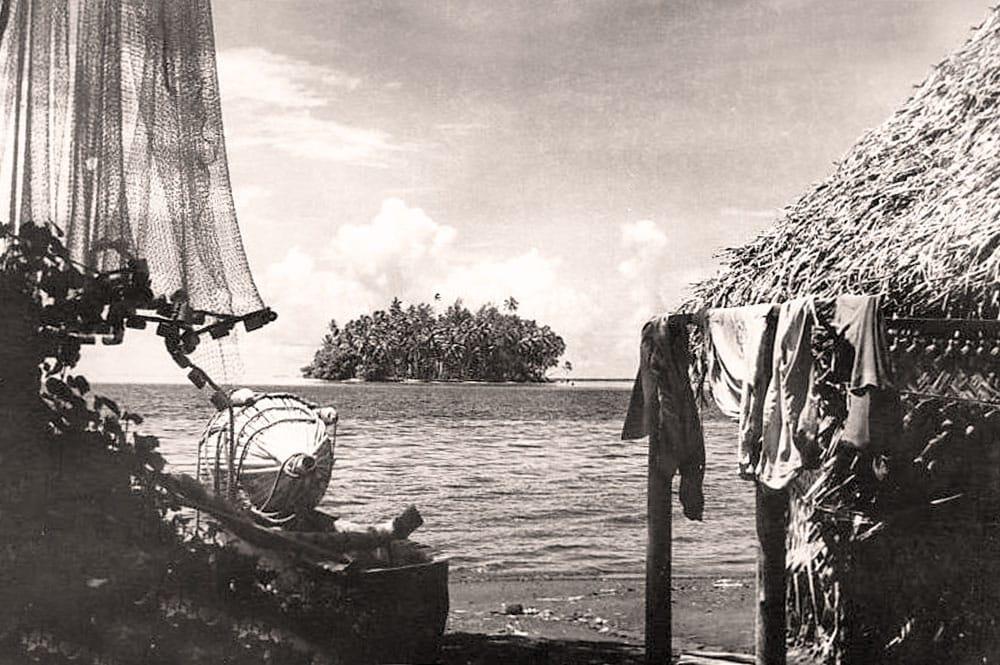 Le motu Matepi à Mataiea en 1950. Photo Mackenzie