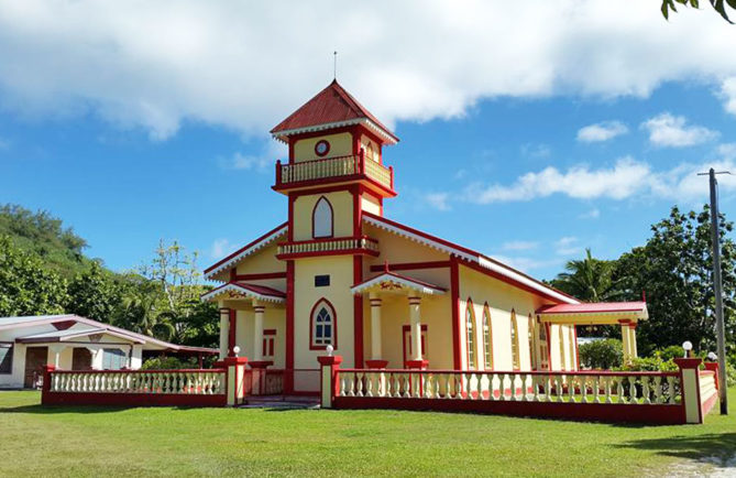 Temple du village de Taora O Mere à Maiao. Photo Chantal Alexandre Tahiti iti