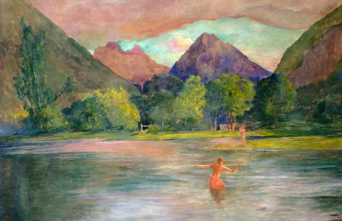 John La Farge, The Entrance to the Tautira River, Tahiti, vers 1895, oil on canvas, National Gallery of Art, Washington.