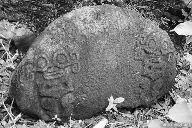 Pétroglyphes contemporains sur la légende de la Taharu'u avec Honoura