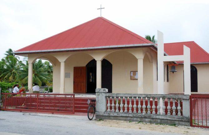 Eglise de Tureia en 2017. Photo Tahiti Infos / Melanie Thomas