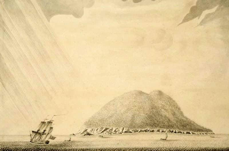 Ile de Mehetia, vu par Samuel Wallis en 1767