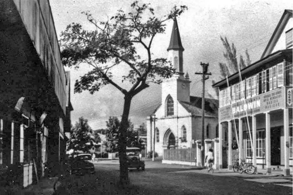 La Cathédrale Notre-Dame de Papeete en 1958. Photo André Reboul