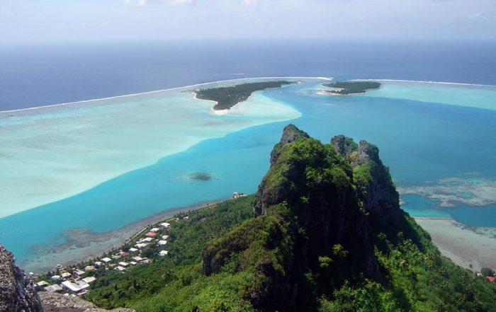 Vue du sommet de Maupiti
