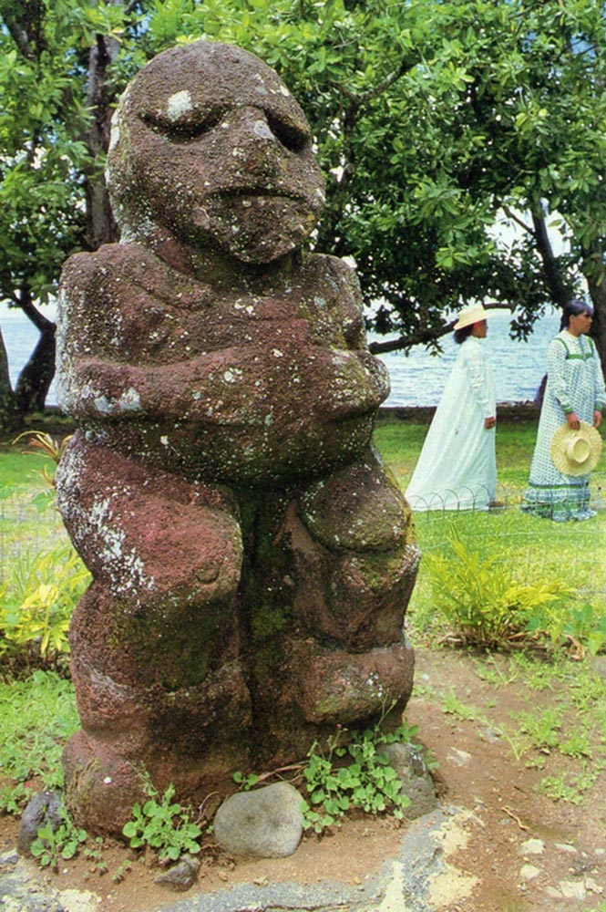 Tiki Moana de Raivavae au Musée Gauguin de Papeari, Photo A. Sylvain