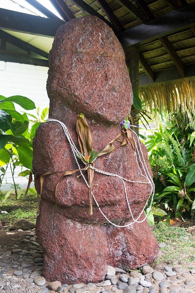 Tiki Heiata de Raivavae au Musée Gauguin de Papeari, Tahiti en 2018