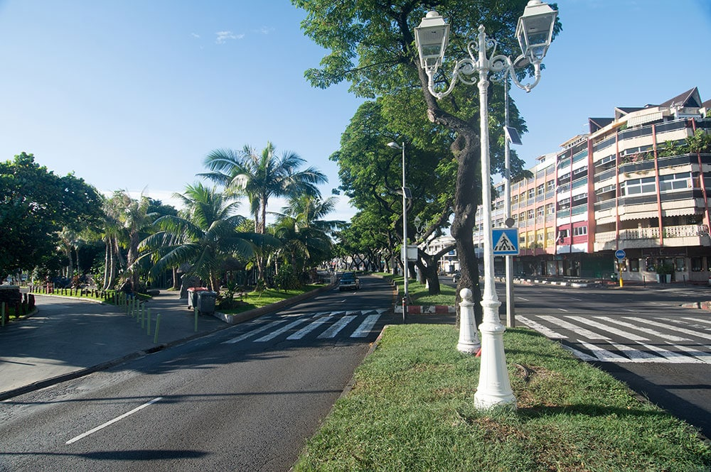 Le front de mer de Papeete et le square Temarii a Teai en 2016. © Tahiti Heritage