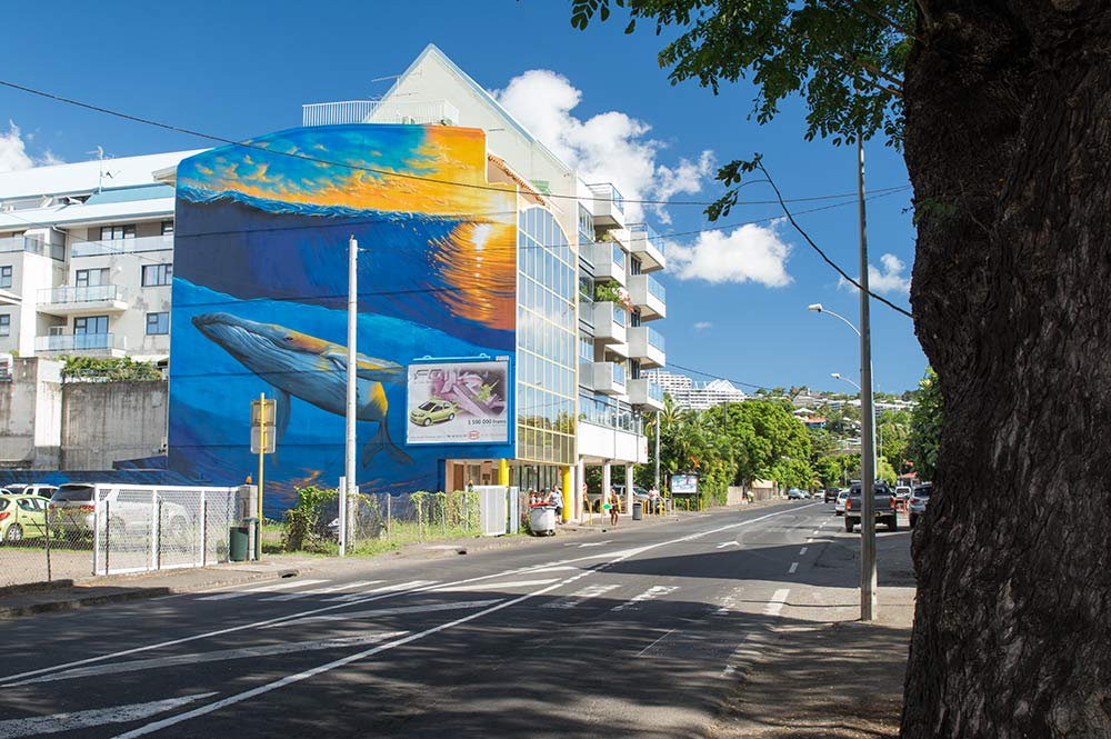 Street Art, la baleine de Paofai. Photo Tahiti Heritage